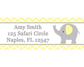 30 Return Address Labels Baby Shower ELEPHANT