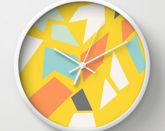 Decorative Wall clock - Modern wall clock - Nursery decor - Decorative Clock - Contemporary decor - Children Decor