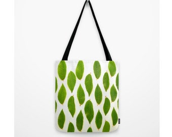 A Few Good Leaves Bag Natural History Green Leaves Nature Decor Woodland Forest Pillow Botany