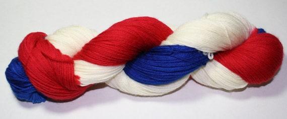 Patriotic Hand Dyed Sock Yarn