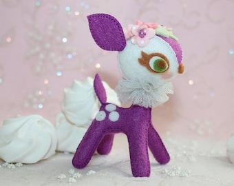 Magenta Petite - Bambi Passion - Felt Plush