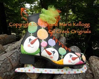 14017 Gumdrop Garden Skate Decorative Painting Pattern