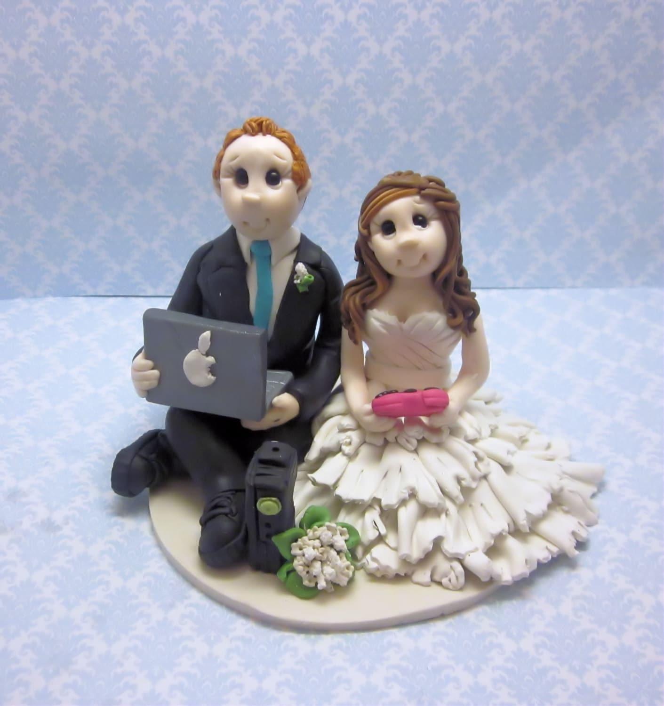 Custom Gamers Wedding Cake TopperCustom wedding cake topper