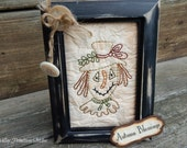 Primitive Hand Stitched Autumn Blessings Scarecrow Stitchery, HHCOFG