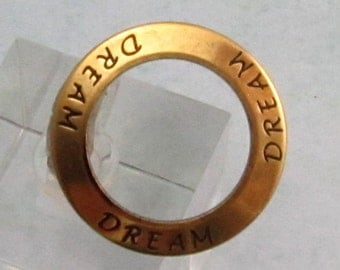 Dream Affirmation Ring, Antique Gold, Trinity Brass AG248