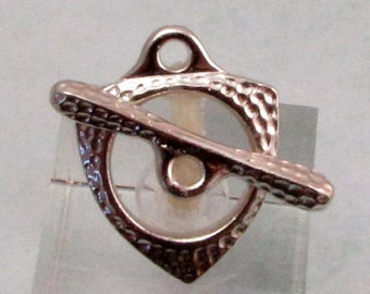 Toggle Clasp, Forged, Antiqued Rhodium, TierraCast TR14