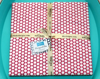 SALE 10 inch squares Stackers HONEYCOMB DOT fabric by Riley Blake