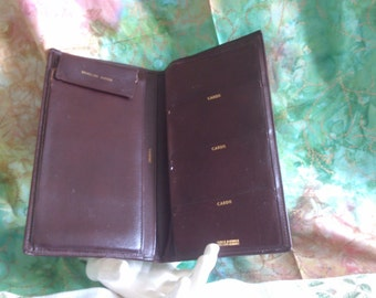 Vintage Retro Leather Travel Wallet  for Passport and Travelers Checks