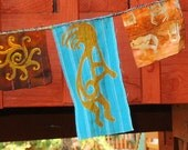 Kokopelli Southwest Petroglyph Garden and Prayer Flag Garland