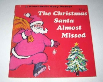 The Christmas Santa Almost Missed Vintage 1970s Children's Book by Troll Associates