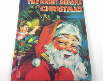 The Night Before Christmas Vintage 1930s Little Color Classics Children's Book McLoughlin Brothers Illustrated by Priscilla Pointer Rare