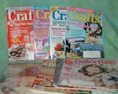 Lot of 10 Crafting Magazines SPRING patterns and idea booklets VINTAGE Painting Florals Woodwork sewing crocheting 1990s