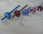 Woolpops Small Glitter Top Whorl Drop Spindle Decoration