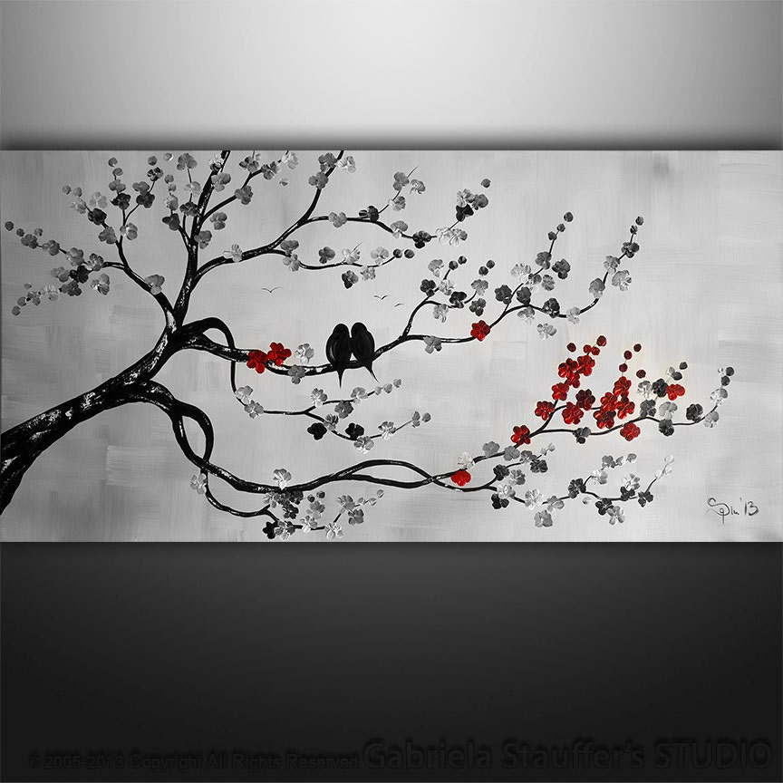 Abstract Painting Birds Painting Abstract Art Tree