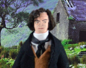 Jane Eyre Mr. Rochester Doll Miniature Charlotte Bronte Collectible Art