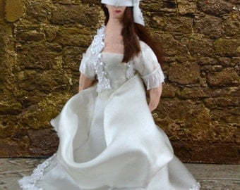 Tudor History Doll Lady Jane Grey on Execution Day MIniature Art