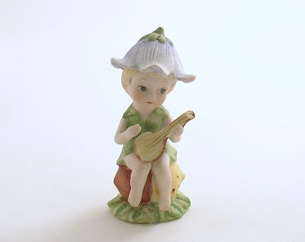 Vintage Pixie Figurine Elf Guitar
