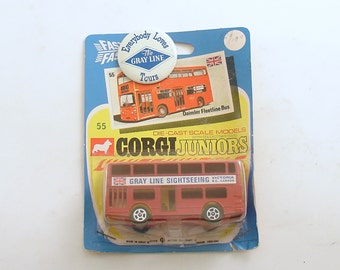 Vintage Toy Corgi Juniors Metal Bus Die Cast Daimler Fleetline No 55 England Original Package