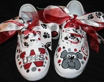 Custom Painted Girl's SCHOOL SPIRIT Cheer Dance Team Shoes Any Size
