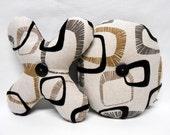 Decorative XO Hug and Kiss Fabric Letter Set Mid Century Modern Style