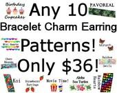 Peyote Bracelet Patterns Brick Stitch Earring Pattern SALE - Pick any 10 Bracelet/Bookmark Charm/Earrings for 36.00 Seed Bead Patterns