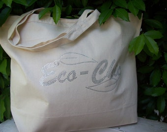 Fashionable Notes Market Bag - Eco-Chic Bling