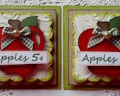 Fall Apple Embellishments-Set of 2
