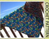 PDF Crochet Pattern- The Reversible Chunky Baby Blanket - Easy and Fun to make - Beginners to Intermediate