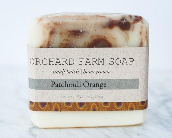 Patchouli Orange//Natural Soap//Small Batch//Homegrown