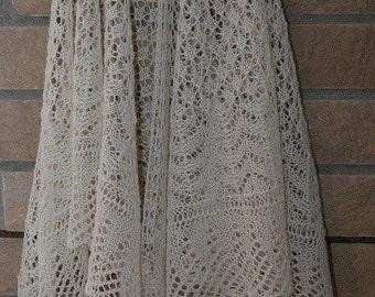PDF SHETLAND Sand Lace Shawl Pattern