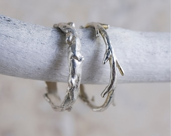 Sterling Silver Twig Ring | Stacking Ring | Nature Inspired Ring| Colby June