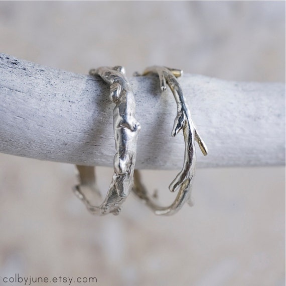 Sterling Silver Twig Ring | Stacking Rings | Nature Inspired Ring| Colby June