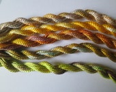 Citrus, Olive, Lemon, Lime, Yellow, Only one available, Unique, Pack of 5 perle, for embroidery or mixed media