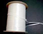 Antique White Ribbon, Double-Sided Antique White Satin Ribbon 1/8 inch wide x 10 yards