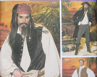 Simplicity Costume Pirate Jack Sparrow Pattern 4923