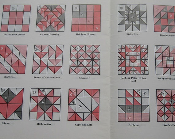 templates for 171 four patch quilt blocks book from thehowlinghag on etsy studio. Black Bedroom Furniture Sets. Home Design Ideas