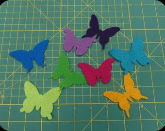 Die cut felt Butterflies 12 pieces 4 styles Your choice of colors
