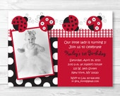 Cute Ladybug Birthday Inv...