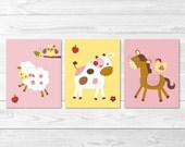 Pink Farm Animal Nursery ...