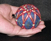 "4"" Diameter Poly Star Japanese Temari Ball with Rattle inside-Japanese String Art-Ball-String Ball-Home Decor---OFG Team"