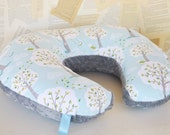 UNISEX BOPPY COVER  / Zipper closure  / Backyard baby Windy day cotton fabric / Silver minky dimples