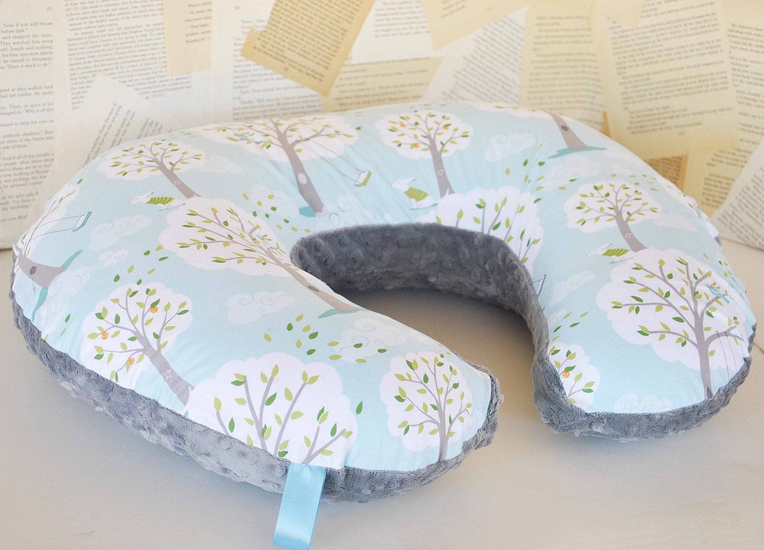 Windy Day Boppy Slipcover Zipper Closure Backyard Baby