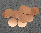 "1-1/4"" Copper Disc 24 Gauge  Pack of 12"