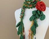 Queen Ann Rose Lariat-Terracotta