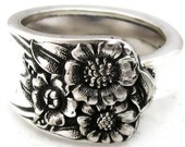 Spoon Ring Size 3 to 15 April Sunflower Pattern