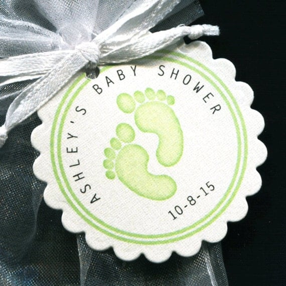 Personalized Gender Neutral Baby Shower Favor Tags Featuring