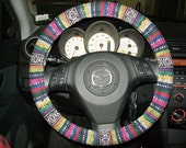 Custom Thai Woven Fabric Steering Wheel Cover