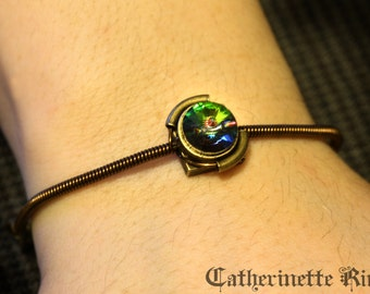 Steampunk Victorian - Bracelet - Vitrail crystal Swarovski