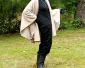 Light Taupe Wrap, Shawl, Cape, Ruana or Blanket Scarf in Anti Pill Fleece--One Size Fits Most