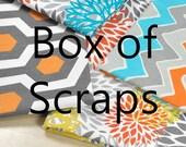 Premier Prints Fabric Box of Scraps Remnants Fabric Pieces Modern Prints colorful fabric